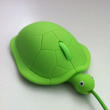 2017 Mini cute kawaii Wired mouse 2.0 usb 3D Tortoise Animal mause PC computer gamer mause lovely turtle maus funny gift