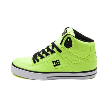 Mens DC Spartan Hi Skate Shoe, Neon Lime | Journeys Shoes