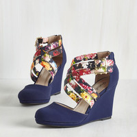 Statement Boost Your Bliss Wedge in Navy
