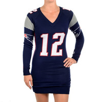 New England Patriots Brady T. #12  Official NFL Sweater Dress