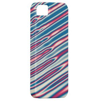 Psychedelic red white and blue stripes iPhone case