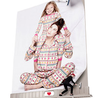 Adult & Child Reindeer Fair Isle Jersey Pajama Sets