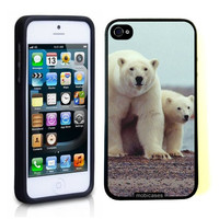 Polar Bear With Cub iPhone 5 Case - For iPhone 5/5G - Designer TPU Case Verizon AT&T Sprint