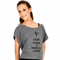 "Adult ""Keep Calm and Rond de Jambe"" T-Shirt"