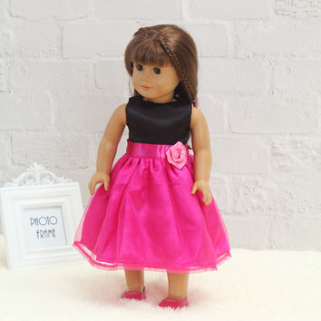 "Free shipping hot 2014 new style Popular 18"" American girl doll clothes dress b-h96"