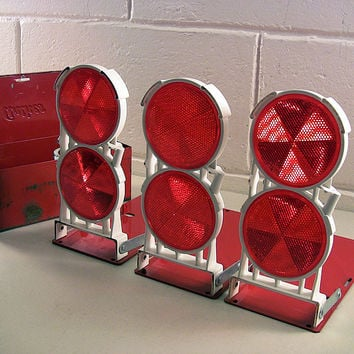 Vintage Auto Safety Road Emergency Kit Reflector Flares