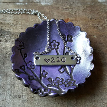 Badge Number Police Wife Necklace with Heart. Police Wife Jewelry. Law Enforcement, Firefighter or Correctional Officer Spouse.