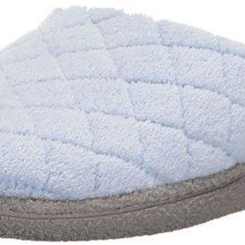 DCCKNY1 Dearfoams Women's Quilted Microfiber Terry Clog Slipper