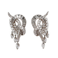 1950's diamond earrings | 1stdibs.com