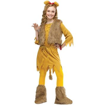 5pcs Wizard of Oz Kids Lion Costume Movie Cosplay Child Lion Drama Stage Performance Halloween Clothing Costumes Children