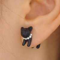 3D Jeweled Kitty Cat Ear Cuff (Single)