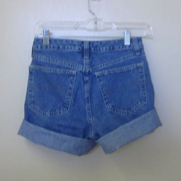 Upcycled Denim Shorts Cut Off Tommy Hilfiger Jean Shorts Upcycled Eco Friendly Hipster Womens Size 2 Mid Rise Waist