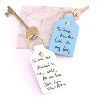 Your Handwriting Engraved On A Key Ring