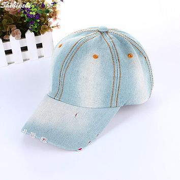 Women Baseball Cap Men Snapback Caps Hats Women Visor Bone Jeans Denim Blank Gorras Casquette Plain Hat Summer trucker cap
