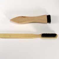 Typewriter Brushes - Two Typewriter Brushes - Wood Typewriter Cleaning Brushes