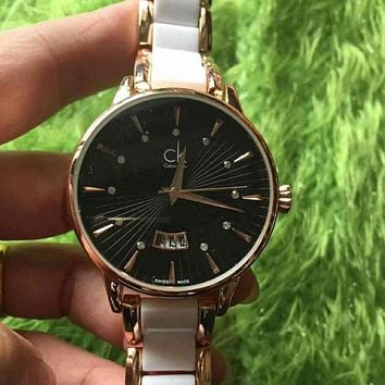 CK Calvin Klein Woman Men Fashion Quartz Movement Wristwatch Watch