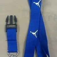 Michael Jordan Lanyard Jumpman Logo Blue Keychain Holder New*