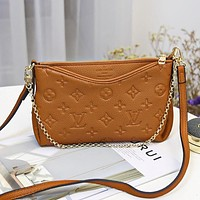LV New Embossed Letter Women's Shoulder Bag Crossbody Bag