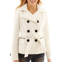 jcpenney | Maralyn & Me Long-Sleeve Double-Breasted Peacoat