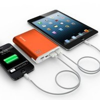 Jackery Giant+ K104ATGH 12000mAh Dual USB Portable Battery Charger for iOS and Android Devices - Orange