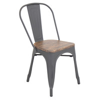 Oregon Dining Chair, Gray/Wood