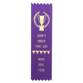 Made Real Food Award Ribbon on Gift Card