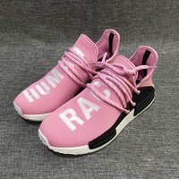 """Adidas"" NMD Human Race Pink Leisure Running Sports Shoes"