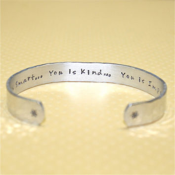 Friend / Teen Gift  You is smart Custom Hand by KorenaLoves