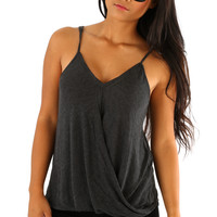 Under Your Spell Top: Charcoal Gray