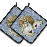 Oyster Pair of Pot Holders 8152PTHD