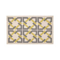 Trina Turk Geometric Tile Rug - Yellow/Grey