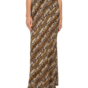 Roper Womens Brown Ombre Full Lenght Western Inspired Maxi Skirt