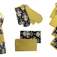 9 Piece Apron Set (Damask)