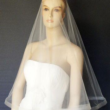 Drop Veil with Horsehair Trim