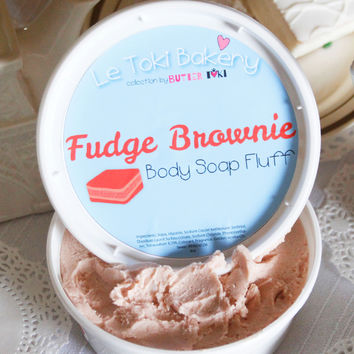 Fudge Brownie Whipped Body Soap Fluff 8oz