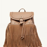 Braided Fringe Backpack