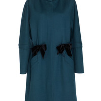 Wool Coat With Double Bow Front Design | Moda Operandi