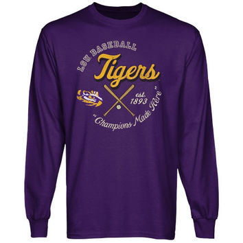 LSU Tigers Winner's Circle Long Sleeve T-Shirt - Purple