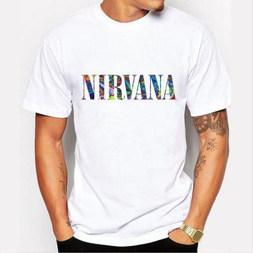 Nirvana Rock Music Band Colored letters t shirt round collar hip hop t shirt Brand clothing Moe Cerf Factory direct sales 78-14#