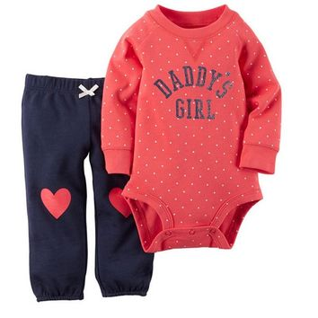 Baby Girl Clothes Red Cotton Bodysuit & Pants Set Baby Clothing Set Newborn Girls Clothes 3-24 Months Sets