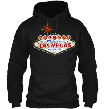 Welcome to Las Vegas Nevada Vintage Sign Souvenir T-Shirt Pullover Hoodie 8 oz