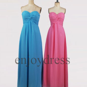 Custom Simple Long Prom Dress Formal Evening Gowns Wedding Party Dresses Formal Party Dresses Bridesmaid Dresses 2014 Cocktail Dress