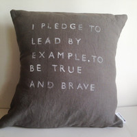 Inspirational Quote Pillow Case - Handmade Pillow Cover