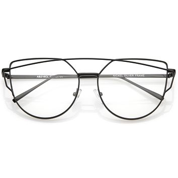 Retro Modern Intricately Designed Clear Lens Glasses C295
