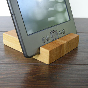 iPad stand. iPhone Stand. Chocolate. Bamboo Dock Station. iPad wood stand. eBook stand.