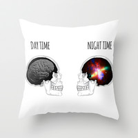 Day and Night Throw Pillow by fyyff