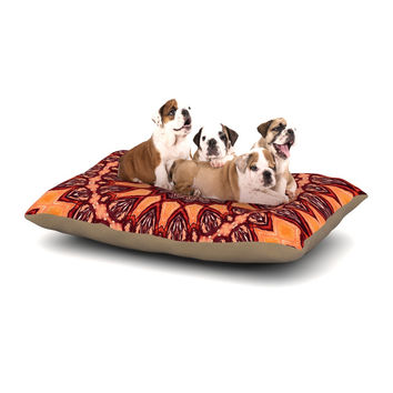 "Iris Lehnhardt ""Colors of Africa"" Brown Orange Dog Bed"