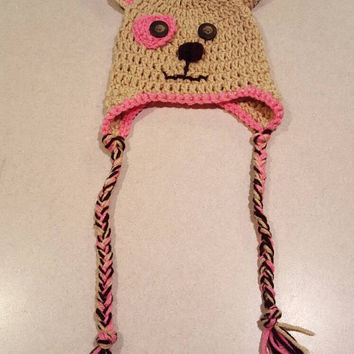 Princess Puppy Crochet Baby Hat
