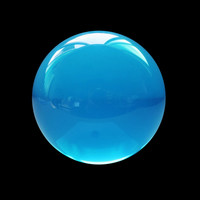 "2"" Blue Clear Sphere Crystal Ball"