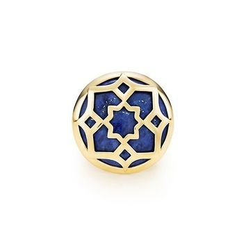 Tiffany & Co. -  Paloma's Zellige ring in 18k gold with lapis lazuli.